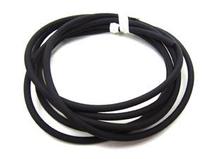 Jewellery Tube PU Tubing 2.5mm - Black x100cm