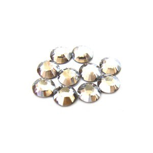 Swarovski Crystal Flatback Rhinestones (No Hotfix) 1.8mm Crystal Silver Shade x10