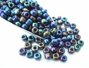 Glass Seed Beads 8/0 - 3mm Iris Purple 50g
