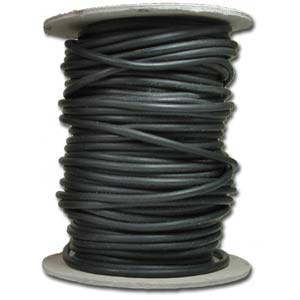 Black Rubber Cord 2mm per 1ft - 30cm