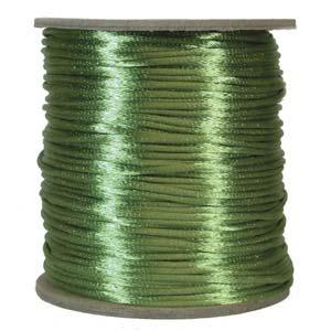 Rattail 2mm Apple Green Kumihimo Satin Braiding Cord x1m