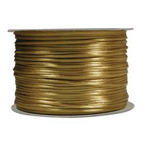 Rattail 3mm Antique Gold (Kumihimo) Satin Braiding Cord 1 metre