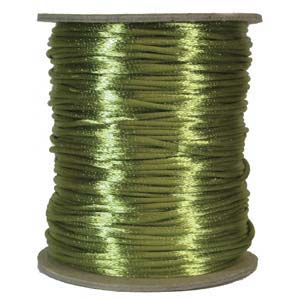 Rattail 3mm Avocado (Kumihimo) Satin Braiding Cord 1 metre