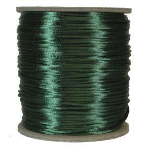 Rattail 3mm Dark Green (Kumihimo) Satin Braiding Cord 1 metre