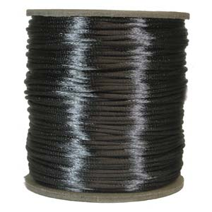 Rattail 1mm Dark Grey (Kumihimo) Satin Braiding Cord 1 metre