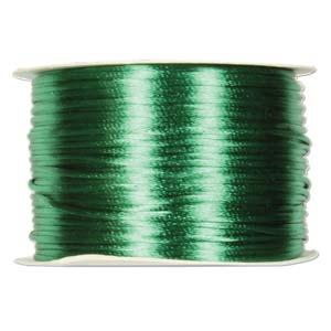 Rattail 1mm Emerald (Kumihimo) Satin Braiding Cord 1 metre