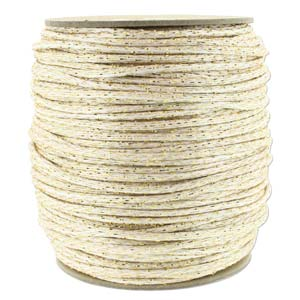 Rattail 3mm White Silver Metallic (Kumihimo) Satin Braiding Cord 1 metre