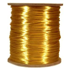 Rattail 2mm Gold Kumihimo Satin Braiding Cord x3m