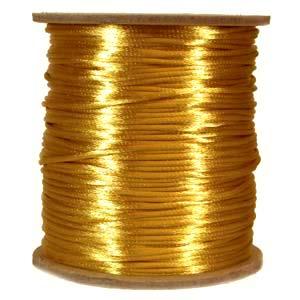 Rattail 1mm Gold (Kumihimo) Satin Braiding Cord 1 metre