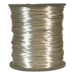 Rattail 2mm Light Beige Kumihimo Satin Braiding Cord x1m