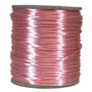Rattail 3mm Light Pink (Kumihimo) Satin Braiding Cord 1 metre