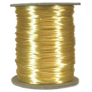 Rattail 2mm Maize Kumihimo Satin Braiding Cord x3m