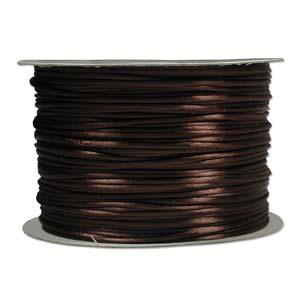 Rattail 3mm Med Brown (Kumihimo) Satin Braiding Cord 1 metre