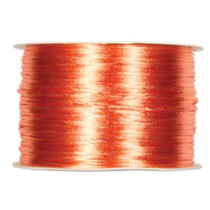 Rattail 1mm Peach (Kumihimo) Satin Braiding Cord 1 metre