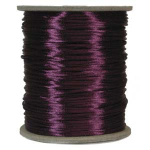 Rattail 1mm Plum (Kumihimo) Satin Braiding Cord 1 metre