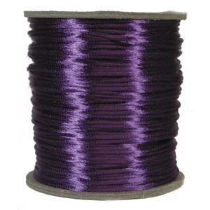 Rattail 3mm Purple (Kumihimo) Satin Braiding Cord 1 metre