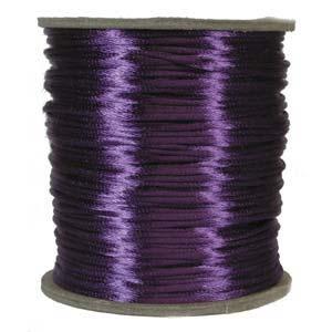 Rattail 3mm Purple (Kumihimo) Satin Braiding Cord 1 metre
