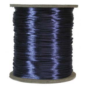 Rattail 1mm Royal Blue (Kumihimo) Satin Braiding Cord 1 metre