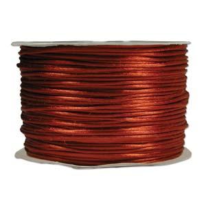 Rattail 3mm Rust (Kumihimo) Satin Braiding Cord 1 metre