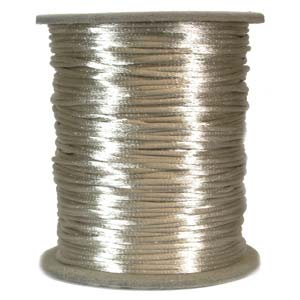 Rattail 2mm Tan Kumihimo Satin Braiding Cord x1m
