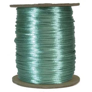 Rattail 2mm Turquoise Green Kumihimo Satin Braiding Cord x1m