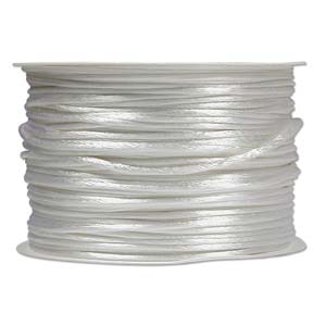 Beadsmith Knot-it! Rattail 1mm White (Kumihimo) Satin Braiding Cord 1 metre
