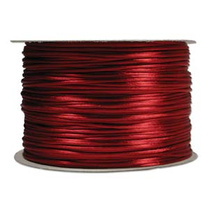 Rattail 2mm Wine Kumihimo Satin Braiding Cord x3m