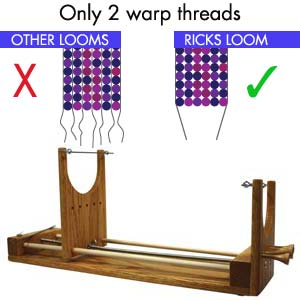Beadsmith The Ricks RV Beading Loom - the Two Warp Bead Weaving Loom