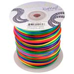 Rat Tail Dazzle It 2mm Rainbow (Kumihimo) Satin Braiding Cord x1m