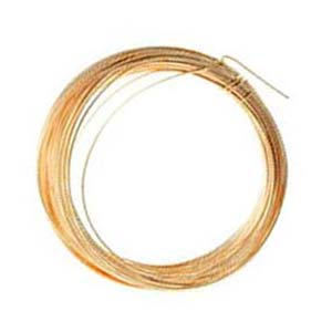 Gilt Plated Copper Craft Wire 14g 1.50mm - 1.75 metres