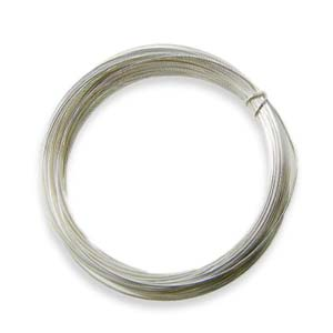 Silver Plated Copper Craft Wire 22g 0.60mm, 10 metres (Special Offer, free with orders over £25, add to cart)