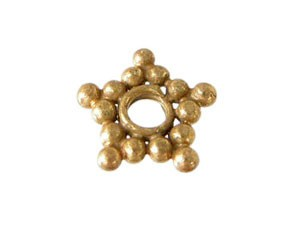 BALI Gold Vermeil Beads - 7.5mm (1.8mm hole) Star Spacer Bead x1