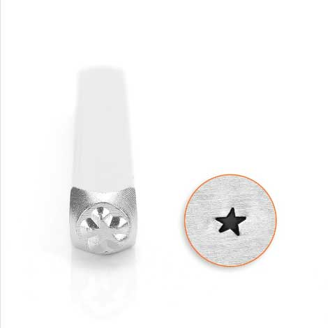ImpressArt Angled Star Solid Small 3mm Metal Stamping Design Punches