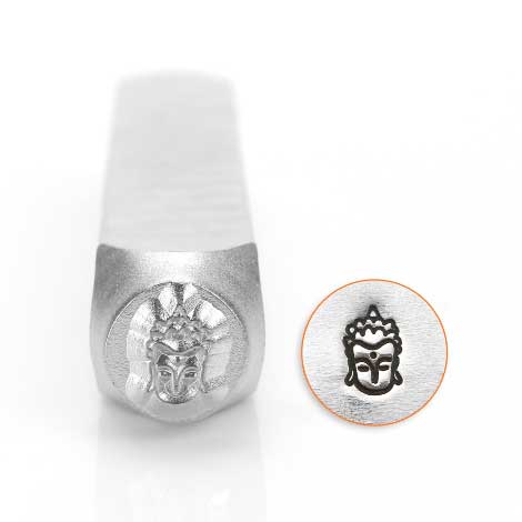 ImpressArt, Buddha Head 6mm Metal Stamping Design Punches