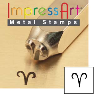 ImpressArt, Zodiac Aries 6mm Metal Stamping Design Punches