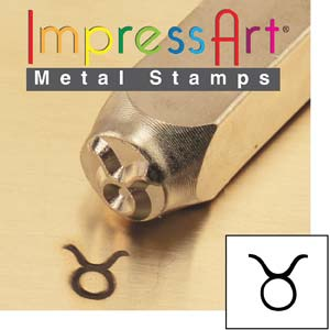 ImpressArt, Zodiac Taurus 6mm Metal Stamping Design Punches
