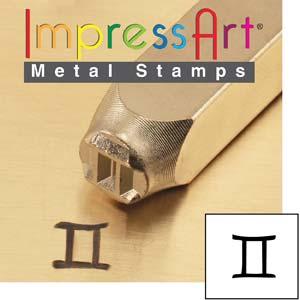 ImpressArt, Zodiac Gemini 6mm Metal Stamping Design Punches