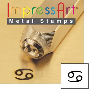 ImpressArt, Zodiac Cancer 6mm Metal Stamping Design Punches
