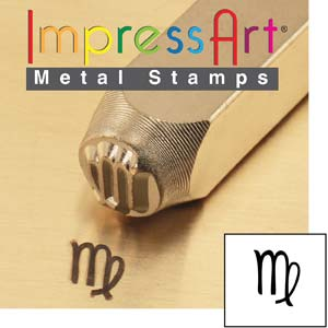 ImpressArt, Zodiac Virgo 6mm Metal Stamping Design Punches