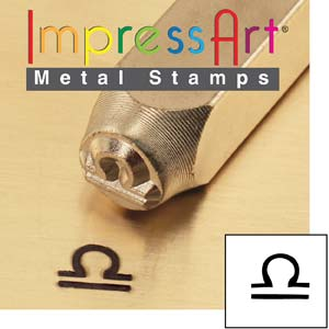 Zodiac Libra 6mm Metal Stamping Design Punches - ImpressArt