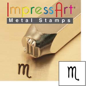 ImpressArt, Zodiac Scorpio 6mm Metal Stamping Design Punches