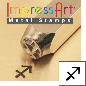 Zodiac Sagittarius 6mm Metal Stamping Design Punches - ImpressArt