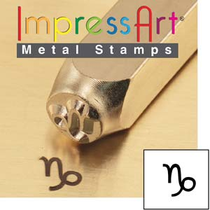 Zodiac Capricorn 6mm Metal Stamping Design Punches - ImpressArt