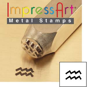 ImpressArt, Zodiac Aquarius 6mm Metal Stamping Design Punches