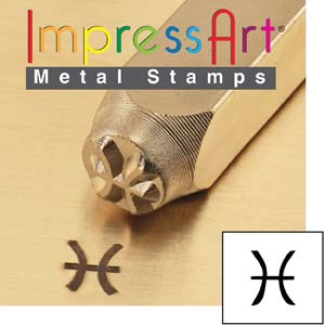 Zodiac Pisces 6mm Metal Stamping Design Punches - ImpressArt