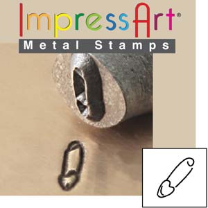 ImpressArt, Safety Pin 6mm Metal Stamping Design Punches