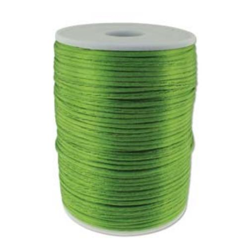 Beadsmith Knot It Rattail Apple Green 2mm Satin Braiding Cord 144yd Bulk Spool