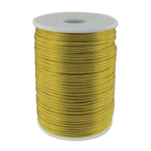 Beadsmith Knot It Antique Gold 2mm Satin Braiding Cord 144yd Bulk Spool