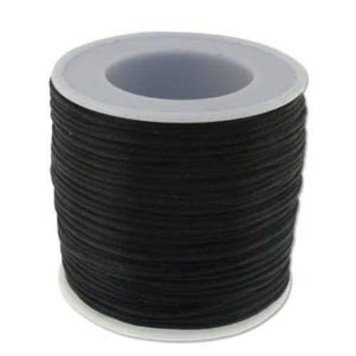 Beadsmith Knot It Rattail Black 1mm Satin Braiding Cord 72yd Bulk Spool