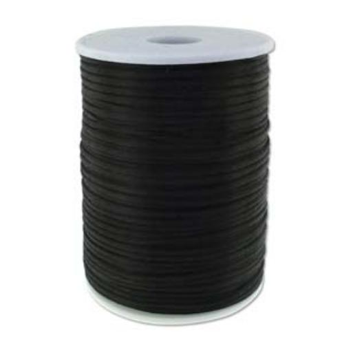 Beadsmith Knot It Rattail Black 2mm Satin Braiding Cord 144yd Bulk Spool